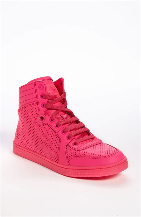 high top sneaker gucci coda high top sneaker in pink lyst