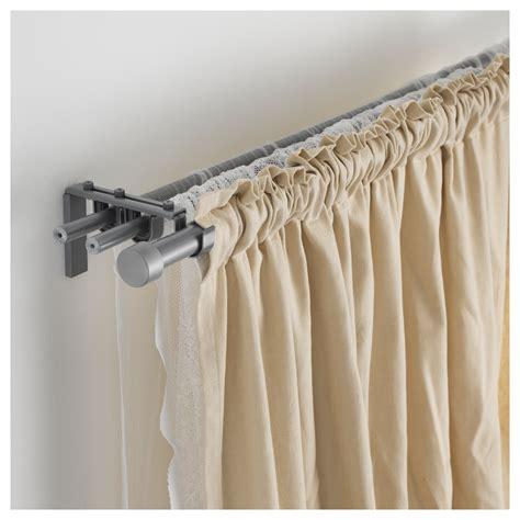 hugad curtain rod hugad curtain rod silver colour 120 210 cm ikea
