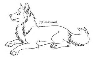 Wolf Sitting Outline by Free Wolf Lineart Ms Paint Friendly By Hooshakosh On Deviantart