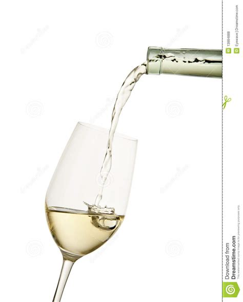 What To Fill Glass With Filling A Glass Of White Wine Royalty Free Stock Photos