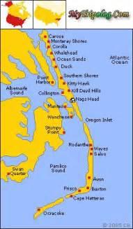 hatteras island map buxton carolina frisco avon