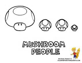 mario mega mushroom colouring pages