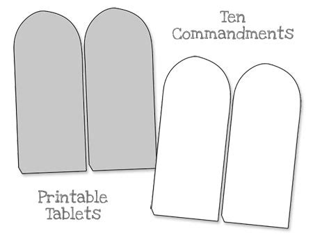 Ten Commandments Printable Template Printable Ten Commandments Tablets Blank Printable Treats Com