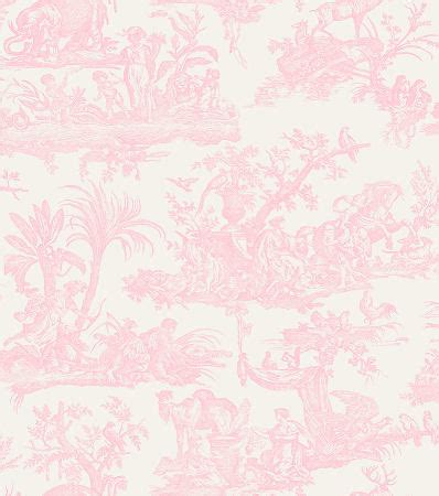 Pale Pink Wallpaper Uk | amelia pale pink toile de jouy wallpaper shabby chic