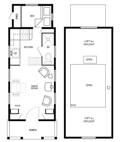 Floor Plans For Small Homes by 17 Best Tiny House Plans Images On Pinterest Tiny House