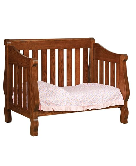 Sleigh Bed Crib Hoosier Sleigh Conversion Crib Amish Direct Furniture