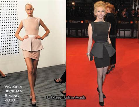 Catwalk To Carpet Beckham Carpet Style Awards by Runway To 2010 Baftas Trudie Styler In Beckham