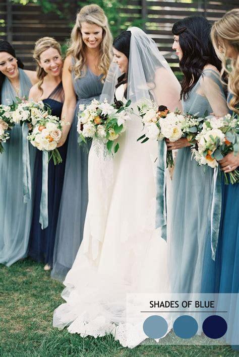 bridesmaid colors mix and match bridesmaid dresses