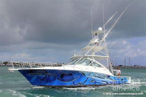 sport fishing boat artwork boat wrap on cabo digital art by carey chen
