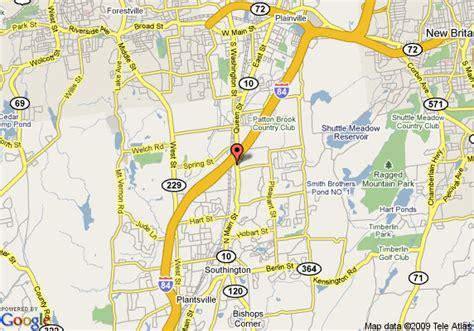 map  knights inn southington southington