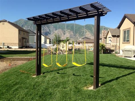 pergola swing set pergola swing set for the kids pinterest