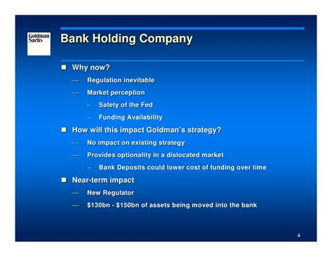 goldman sachs bank holding company goldman sachs presentation at the 2008 merrill lynch