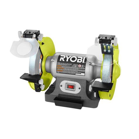 bench grinder specification ryobi 8 in bench grinder green bg828g the home depot