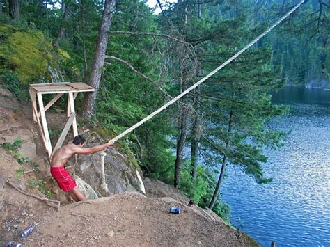 rope swing water video report the scariest rope swing in the world