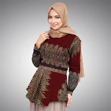 Batik Mutia Maroon Modis peplum batik prada anjani modern warna maroon vb 5 batik aqila