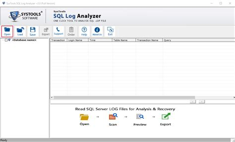 log file reader windows sql transaction log recovery restore data from sql log file
