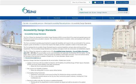 design guidelines ottawa city of ottawa 2015 accessibility design standards ads