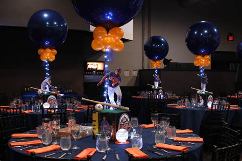 bar mitzvah centerpieces sports themed centerpieces balloon artistry