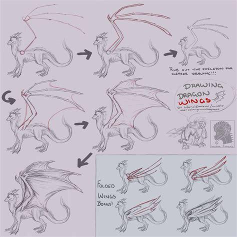 pattern drawing dragon dragon wings tutorial by infernalevanesce on deviantart