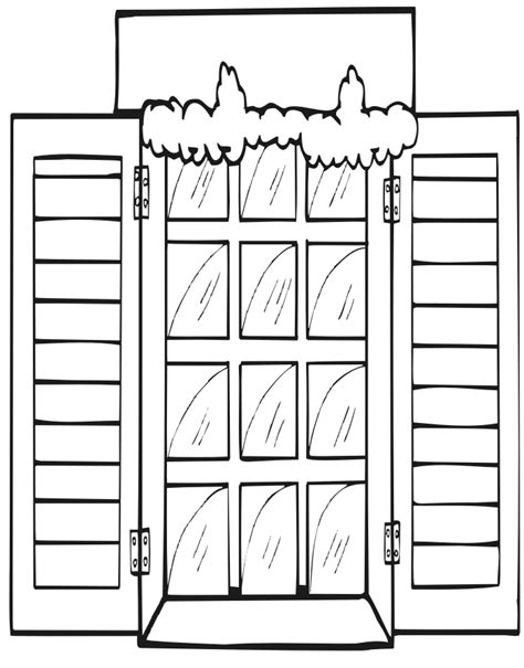 Window Coloring Pages window coloring page coloring pages