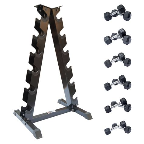 buy cheap dumbbell set with rack compare weight