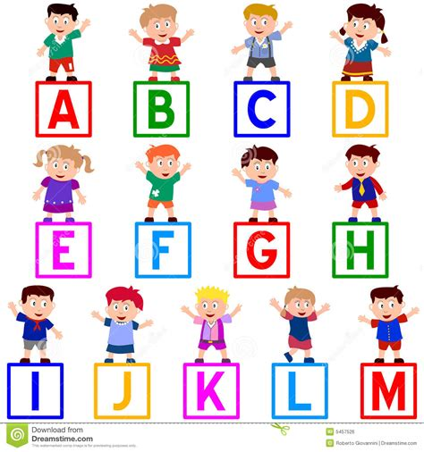 Kid Letters by Abc Individual Alphabet Letters Clipart Kid