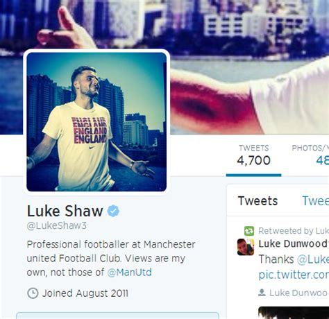 bio for instagram about football done deal luke shaw completes move to man united changes