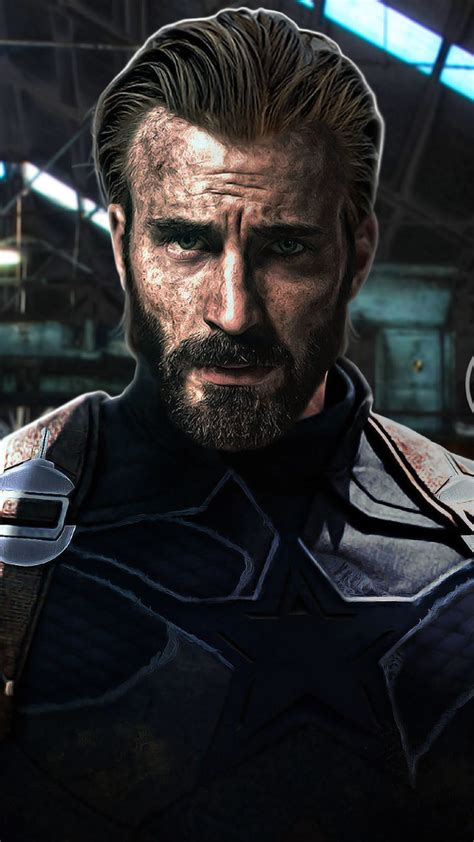 captain america beard look in infinity war hd 2k wallpaper