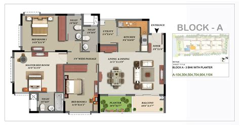 3bhk house plan mantri glades floor plan glades landscape 2 2 5 3 bhk