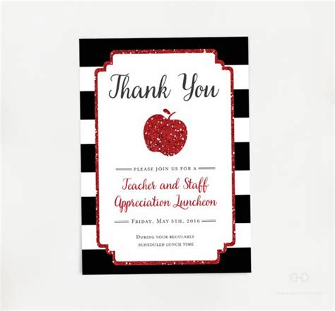 principal appreciation cards template appreciation invitation apple printable