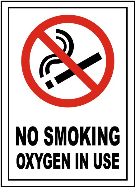 no smoking sign use no smoking oxygen in use sign r5400 by safetysign com