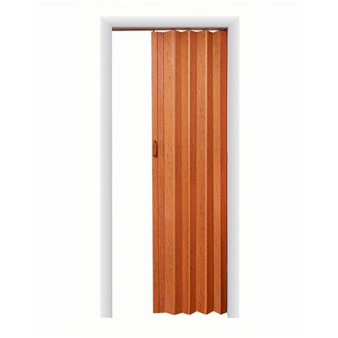 Spectrum Accordion Doors by Spectrum 32 In X 80 In Oakmont Vinyl Pecan Accordion