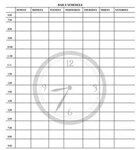 sle printable daily schedule template 19 free