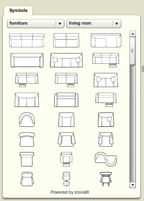 house layout furniture floor plan symbols clip art 36