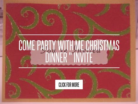 Come With Me Winter Dinner by Come With Me Dinner Quot Invite Diet