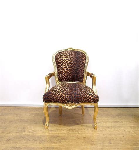 leopard print armchair uk vintage retro louis xv style chair with leopard