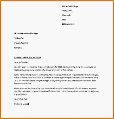 Application Letter Exle Of A Letter Of Application Exle 60 Images Application Exle