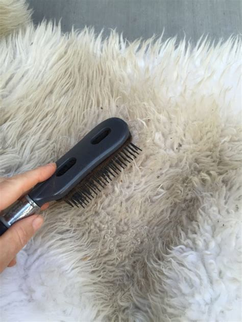 how to clean a fur rug brush for sheepskin rug rugs ideas