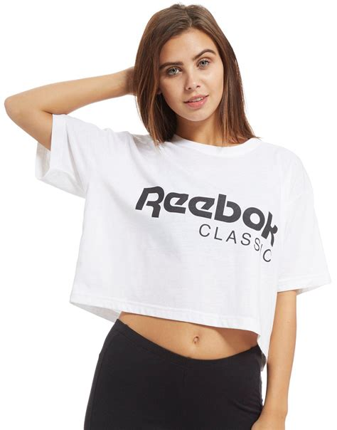 T Shirt This Is A Classic Reebok lyst reebok classics cropped t shirt in white