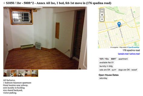 what of apartment does 1000 get you in toronto