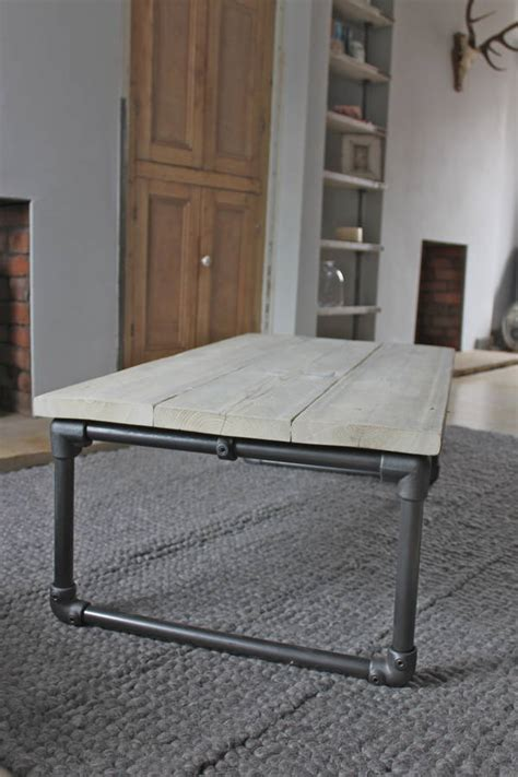 casey white washed reclaimed wood coffee table by