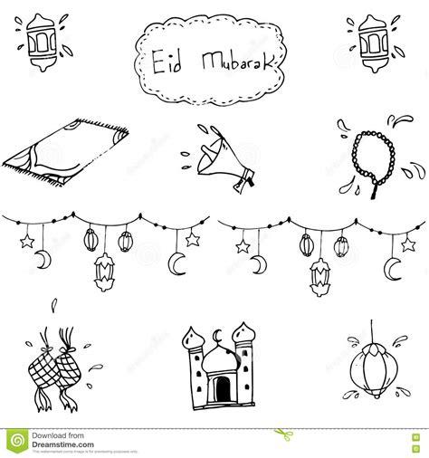 doodle muslim eid mubarak doodle vector cartoondealer