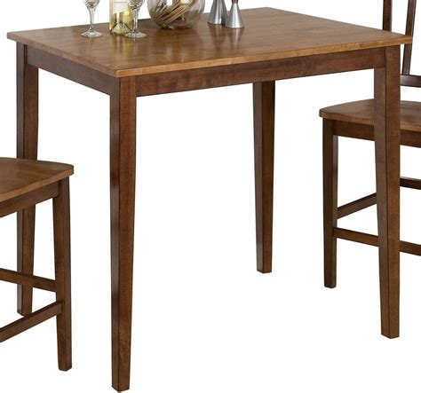 kura espresso and gold counter height dining table