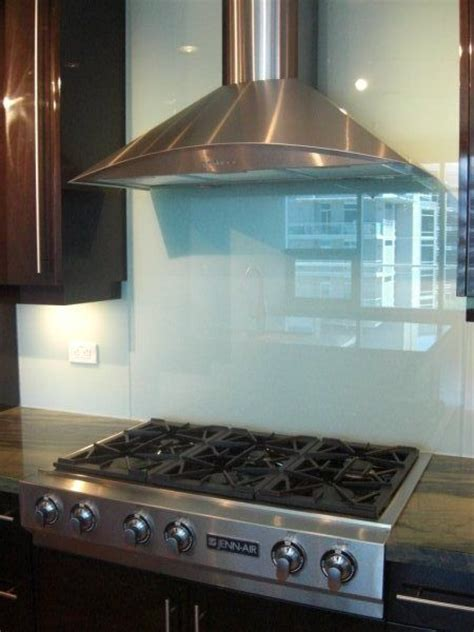 solid glass backsplash decor
