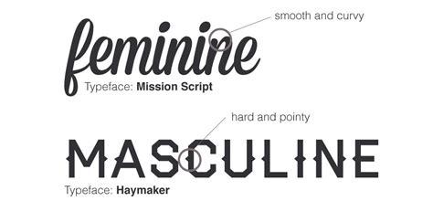 typography vs font leveraging stereotypes in design masculine vs feminine
