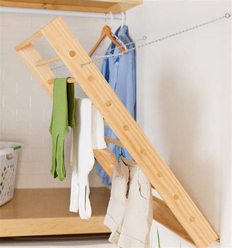 Diy Wall Mounted Drying Rack by Clothes Drying Rack Plans Woodworking Projects Plans