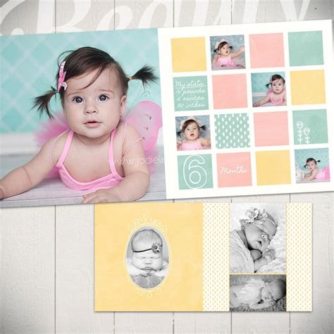 baby photo book template baby album template me grow photography album