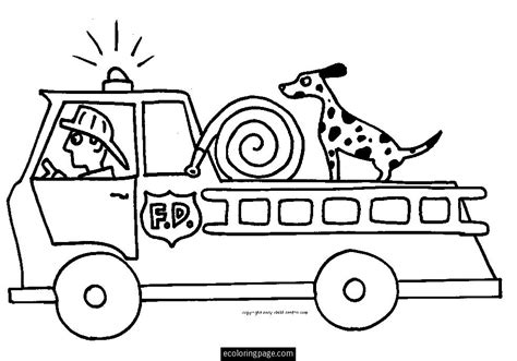 simple fire truck coloring page coloriage camion pompier les beaux dessins de transport