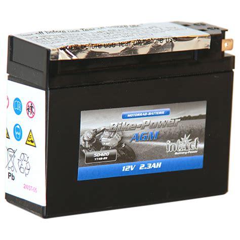 Motorrad Batterie Haltbarkeit by Intact Bike Power Agm 50420 Premium Motorradbatterie 12v 2