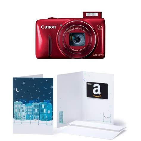 Canon Gift Card - canon powershot sx600 hs 16mp digital camera with built in wi fi and 100 amazon gift